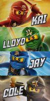 Lego Badlakan : Lego Ninjago håndklæde 70x140 - Ninjago Badehåndklæde 23921