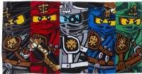 Lego Badlakan : Lego Ninjago håndklæde 75x150 - Lego badehåndklæde 394615