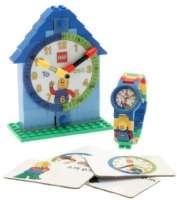 Lego Byggklossar : Lego Ur, Lär dig klockan, blå - Lego børneur 800751