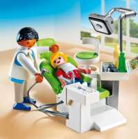 Playmobil City : Tandlæge med patient - Playmobil 6662 City Life