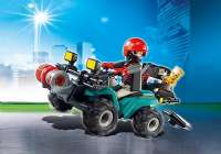 Playmobil City Action : Røver med Quad - Playmobil 6879