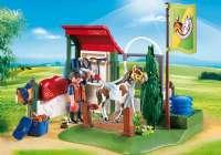 Playmobil : Hestevaskeplads - Playmobil Hestestald 6929