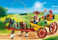 Playmobil : Hestevogn - Playmobil Hestestald 6932