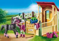 Playmobil : Hestestald med araber - Playmobil Hestestald 6934