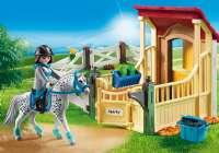 Playmobil : Hestestald med Appaloosa - Playmobil Hestestald 6935