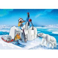 Playmobil Polar Ekspedition : Polarforsker med isbjørne - Playmobil 9056