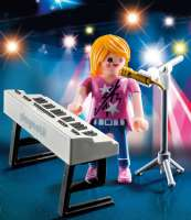 Playmobil Figurer : Sanger med keyboard - Playmobil 9095