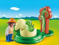Playmobil : Pige med dinoæg - Playmobil 1,2,3 dinosaurer 9121