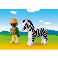 Playmobil : Ranger med Zebra - Playmobil 1,2,3 Dyr 9257