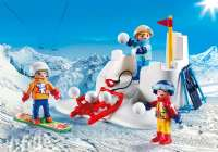 Playmobil Figurer : Sneboldskamp - Playmobil Family Fun 9283