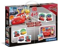 Cars : 4in1 Edukit Cars - Disney Lynet McQueen Børnespil 13710