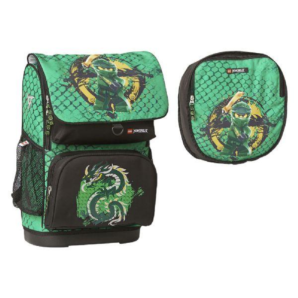 Image of Ninjago Optimo Green Skoletaske 2 dele (142-084738)