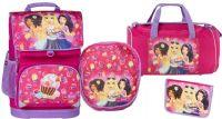 Skolesekker og vesker : Friends Cupcake School Bag Set 4 pc. - Lego skoletaske 451711