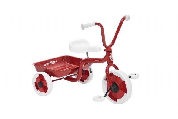 Image of Trehjulet cykel m. vippelad rød/hvid (154-040500)