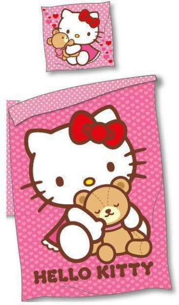 Nytt Hello Kitty sengesett 100x140 cm - Hello Kitty sengesett 16932 FD-41