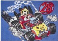 Mickey Mouse : Mickey Mouse gulvtæppe Racer - Disney Mickey børnemøbler 640323