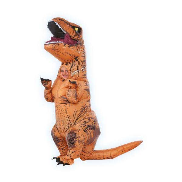 Oppustelig T Rex Kostume Onesize Barn Dinosaur Fastelavn Og