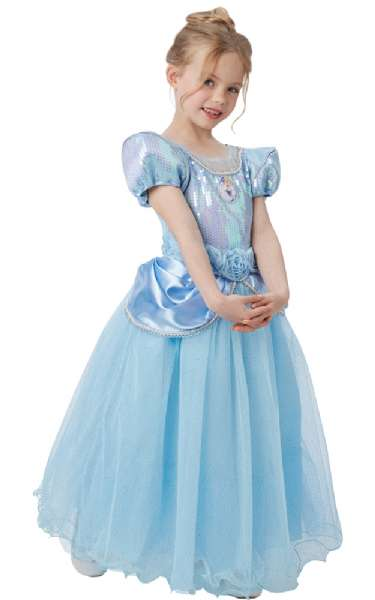 f7f42af2b16c Askepot Premium kjole 116 cm - Disney Askepot udklædning 620480 Shop ...