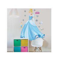 Disney Princess Seinätarrat : Tuhkimo seinätarra - Walltastic Disney Princess børneværelse