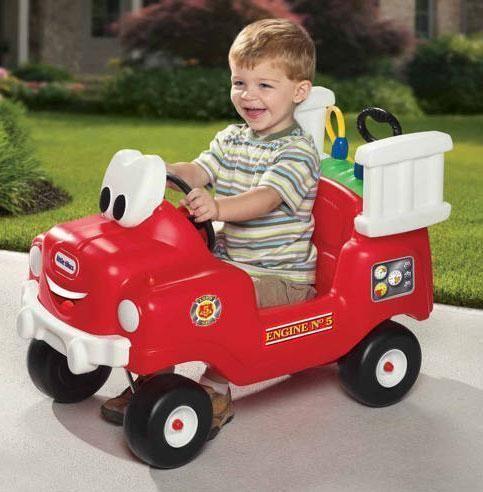Moderne Feuerwehrauto - Rutschauto - Little Tikes Rutschauto 616129 Shop ZC-89
