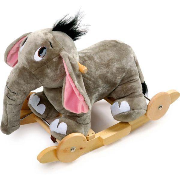 Image of 2-i-1 Gynge Elefant med hjul (220-004129)