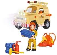 Brandman Sam Leksaker : Toms bjerg redningsjeep 4x4 med lys - Brandmand Sam biler 1162