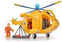 Brandman Sam Leksaker : Wallaby 2 helikopter m/figur - Brandmand Sam flyvemaskine 7027