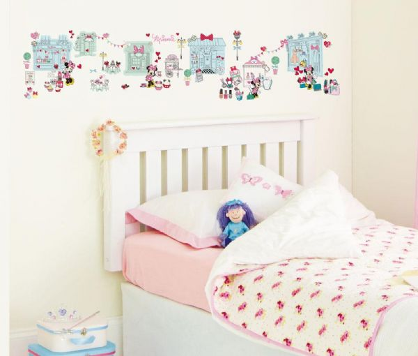 Minnie Mouse Wallsticker Wand Dekoration Minnie Mouse Kinderzimmer