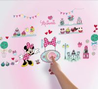 Worlds Apart Wallstickers : Minnie Mouse Wallstickers Ringeklokke - Minnie Mouse Børneværelse 650622
