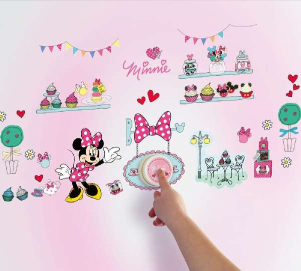 Minnie Mouse Wallsticker Klingel Minnie Mouse Kinderzimmer 650622