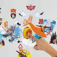 Worlds Apart Wallstickers : Flyvemaskiner Wallstickers Ringeklokke - Disney Planes Børneværelse 650745