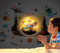 Worlds Apart Wallstickers : Flyvemaskiner Wallstickers lampe - Disney Planes Børneværelse 650783