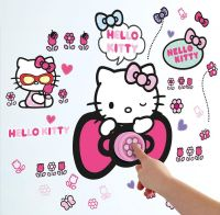 Worlds Apart Wallstickers : Hello Kitty Wallstickers Ringeklokke - Hello Kitty Børneværelse 650981