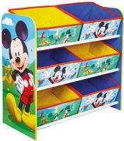 Mickey Mouse : Mickey Mouse reol med 6 kurve - Disney Mickey Børnemøbler 662977