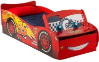 Sängar för barn : Blixten McQueen juniorseng med ljus och madrass - Disney Cars Børnemøbler 663042