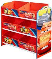 Reoler og skabe : Lynet McQueen reol med 6 kurve - Disney Cars Børnemøbler 663172