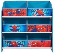 Reoler og skabe : Spider-Man Reol m. 6 stof kurve - Spiderman Børnemøbel 663615