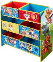 Børnemøbler : Paw Patrol reol med 6 kurve - Paw Patrol børnemøbler 665268