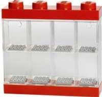 Lego Shop Minifigurer : Lego Minifigur Display 8 figurer, Rød - Lego Figur opbevaring 23577