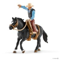 Schleich Figurer : Saddle bronc riding med cowboy - Schleich 41416
