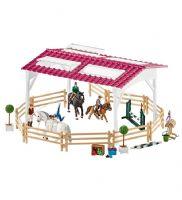 Schleich : Rideskole med ryttere og heste - Schleich 42389