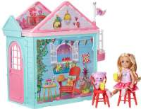 Barbie Club Chelsea : Barbie Club Chelsea Playhouse - Barbie dukke DWJ50