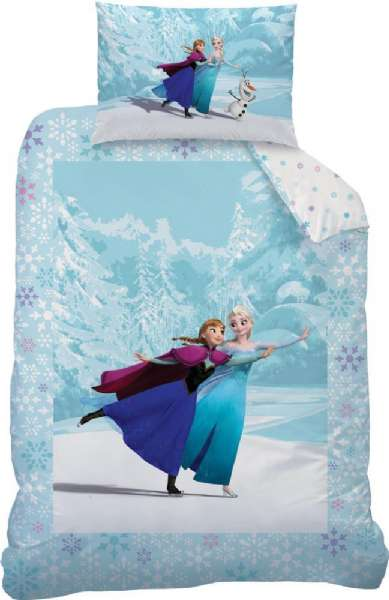 71aa642d9c3 Frost juniorsengetøj 140 x 110 cm. - Disney Frozen sengetøj 43024 ...