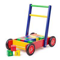 Tidlo : Gå vogn med klodser - Tidlo gåvogn med klodser 001717