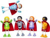 Tidlo : Super helte sæt med 5 dukker - Tidlo dukker 004084