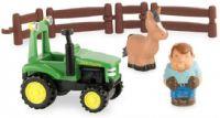 Traktorit : John Deere Traktori, kuljettaja ja hevonen - Traktor 430674