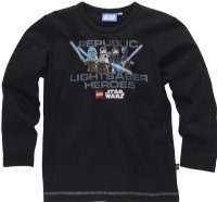 Lego Wear / Lego Tøj / Legotøj Star Wars : Lego Wear T-shirt lange ærmer Star Wars  - Børnetøj Black tel320995
