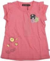Minymo : Minymo T-shirt med flæse ærme  - Børnetøj Tea rose 121-73-0254-70527