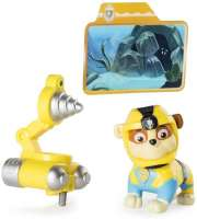 Paw Patrol : Rubble Light Up Sea Patrol - Paw Patrol Light Up figur 88689