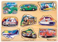 Pussel : Classic Vehicles Sound Puzzle - Melissa & Doug legetøj 10267